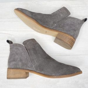 Dolce Vita | Tessey, Gray Suede Slip-on Booties